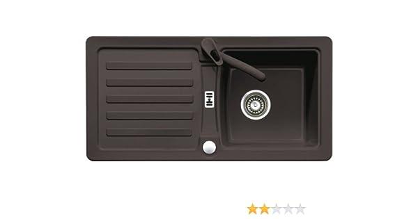 Eurodomo Einbauspüle Eurostone Prima 45 Granit Espresso Granitspüle Küchenspüle