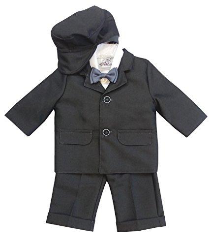5tlg. Hochwertiger Taufanzug/Babyanzug Anzug für Jungen mit 80% Baumwolle, 86