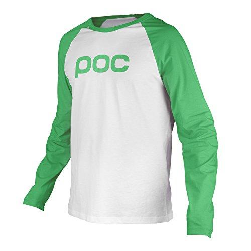 POC Langarm Shirt Raglan Jersey Cinnabar Green/Hydrogen White