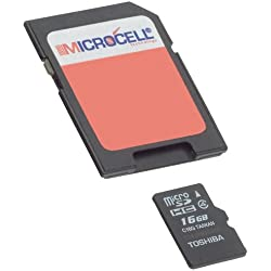 Microcell Carte MicroSD de 16 Go / 16GB avec Adaptateur SD pour Wiko Lenny 2
