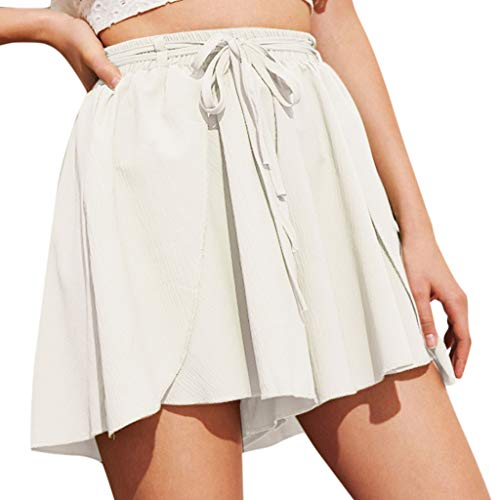Watopi Damen shorts Sommer High Waist Loose Hosen Shorts Elegant Freizeit Shorts Damenhosen Strandshort hot pants