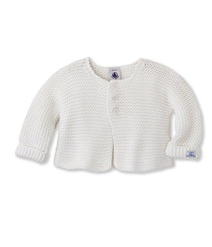 Petit Bateau BABY-Camicia Unisex - Bimbi 0-24    Bianco (Écume) 18 mesi