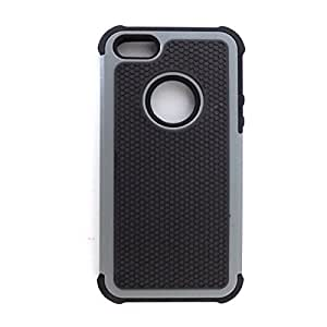 Bracevor Triple Layer Defender Back case for Apple iPhone 5 5s 5g - Grey