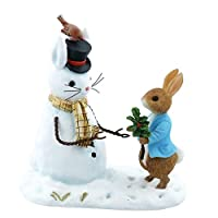 Beatrix Potter Peter and Snow Rabbit Figurine, Multi-Colour