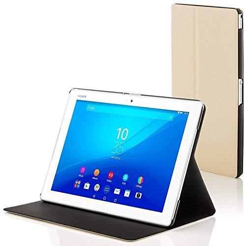 Forefront Cases Smart Hülle kompatibel für Sony Xperia Z4 10,1 Zoll Tablet-PC Hülle Schutzhülle Tasche Case Cover Stand - R&um-Geräteschutz Auto Schlaf Wach Funktion + Stift und Bildschirmschutz (WEIß)