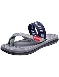 2418d00af Boomboom Men Shoes Mens Sandals Bottle Casual Striped Flip Flops for Men  Black