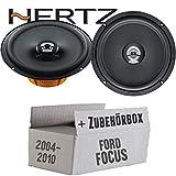 Hertz DCX 165.3-16cm Koax Lautsprecher - Einbauset für Ford Focus 2 Front - JUST SOUND best choice for caraudio