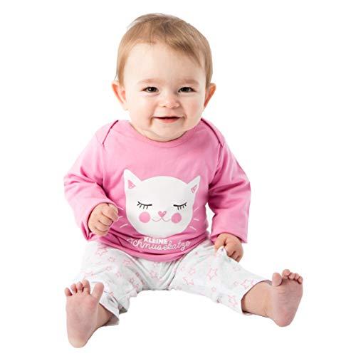 Baby - Mädchen Schlafanzüge Kleine Schmusekatze, Rosa, 74/80