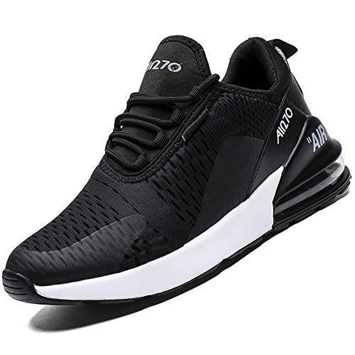 Mabove Laufschuhe Herren Turnschuhe Sportschuhe Straßenlaufschuhe Sneaker Atmungsaktiv Trainer für Running Fitness Gym Outdoor(Black/9670,40 EU)