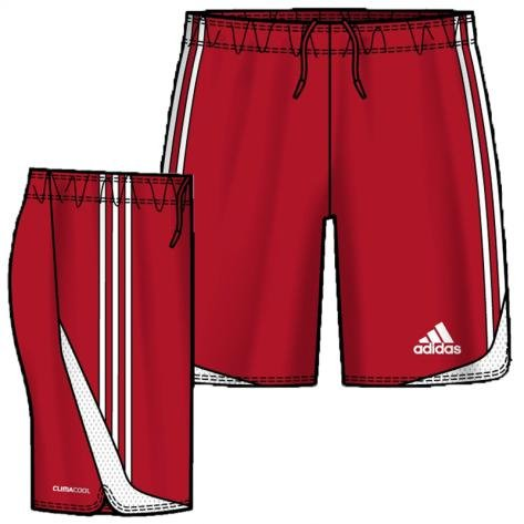 adidas Herren Fussballshorts Tiro 11, university red/white, M, O07511, Adidas Tiro 11 Training