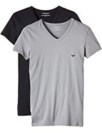 Emporio Armani Men's 111512cc717 Short Sleeve T-Shirt,Pack of 2
