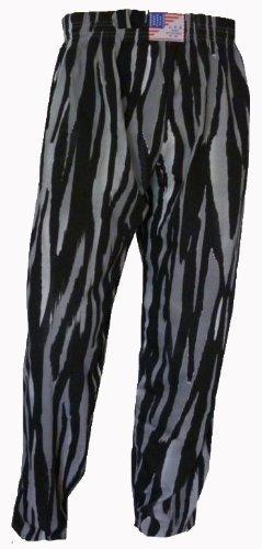 USA SPORTS Gym Yoga Baggys Baggies Muskel-Training Sport Casual Hose S M L XL Grau Zebra Streifen Print Gr. X-Large, gestreift