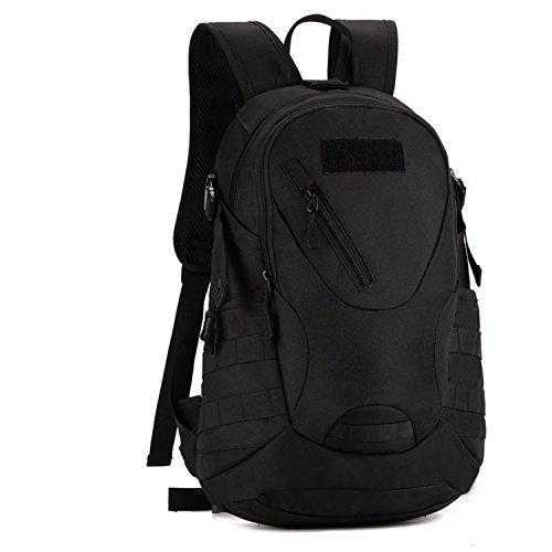Imagen de sunvp táctical  militar  asalto  gran bolsa de hombro impermeable 20l para las actividades aire libre, senderismo, caza ,viajar, color negro