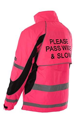 Equisafety Aspey Jacket - Chaqueta de hípica para Hombre, Color Rosa, Talla XL