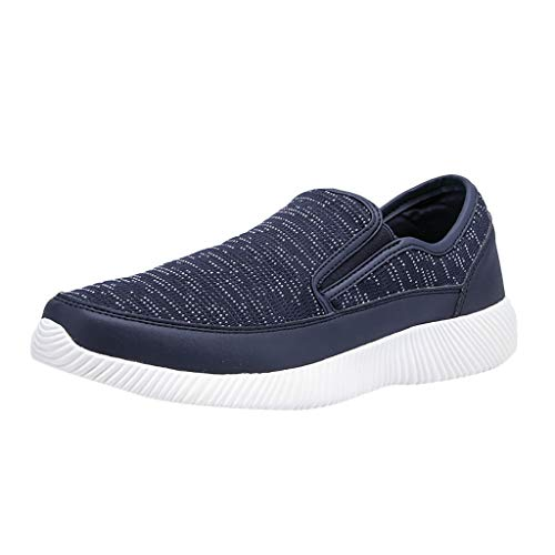 CUTUDE Weisemänner Schuhe Herren Beiläufige Einbeinige Faule Basketball Schuhe High Top Licht Dämpfung Bequeme Atmungsaktive Outdoor Sportschuhe Sneakers (Blau, 42 EU)