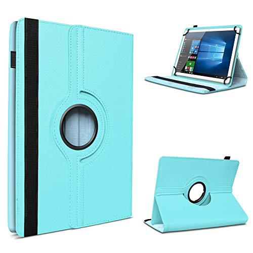 UC-Express Tablet Schutzhülle für 10-10.1 Zoll Tasche aus hochwertigem Kunstleder Standfunktion 360° Drehbar Universal Case Cover, Tablet Modell für:Blaupunkt Endeavour 1001, Farben:Hellblau