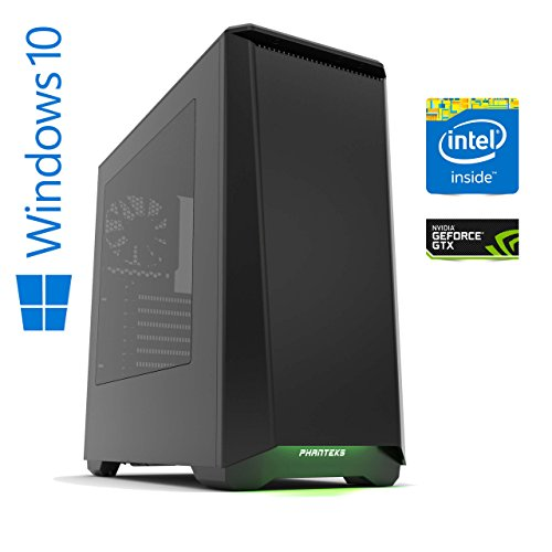 Memory PC Gaming Computer veru X Intel PC Core i7-7700 7. Generation (Quadcore) Kaby Lake 4x 3.6 GHz, ASUS PRIME Z270-P, 16 GB DDR4 2133Mhz, 256 GB SSD + 2000 GB HDD , Nvidia Geforce GTX 1060 6GB 4K, USB 3.0, MultimediaPC, High End Gaming, Workstation, CAD Fähig, Silent 41v5nGIyxHL