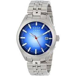 CCCP Herren CP-7012-33 Shchuka Analog Display Automatic Self Wind Silver Armbanduhr