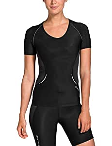 Skins A400 Short Sleeve Women's Compression Top - Black/Silver, XS