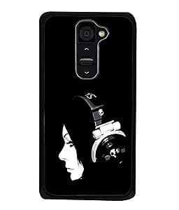 PrintVisa Black Girl High Gloss Designer Back Case Cover for LG G2 :: LG G2 Dual D800 D802 D801 D802TA D803 VS980 LS980