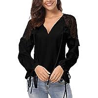 Ropa Camisetas Mujer, Zolimx Blusas para Mujer Verano Sexy Elegantes Casual Tallas Grandes Estampado Floral