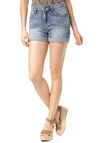 Lakeville Mountain Damen Shorts Mana| Jeans Shorts im 5-Pocket Style | Frauen Sommer Jeans Shorts | Blau, L