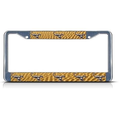 Scorpion resistente in metallo cromato targa tag Frame Border