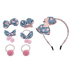 Eudola Kinder Haarspange, Blaues Haarnadel Stirnband Niedlich Haarspange-Set Haarclips Haarklammern Haarschmuck Mädchen und Kinder
