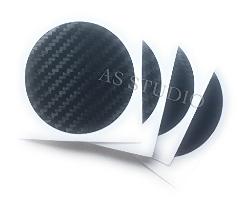 4x Nabendeckel Folie 50mm Carbon schwarz