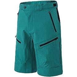 INBIKE Pantalon Corto De MTB Transpirable Fresco Cómodo para Verano, Shorts De Ciclismo Bici Bicicleta Montaña Ciclista para Hombre,Azul M