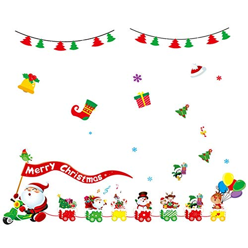 Creative Christmas Static Cling Glass Sticker Paste PVC Decoractive HYC-92 multicolor