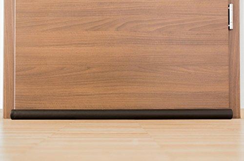 empasa Zugluftstopper Türdichtung Türbodendichtung Türisolierung 95 cm in schwarz
