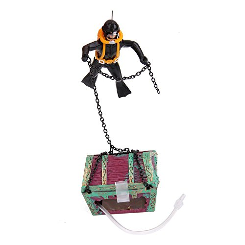 Hot Air Action Diver Hunter Treasure Chest Decor Ornament
