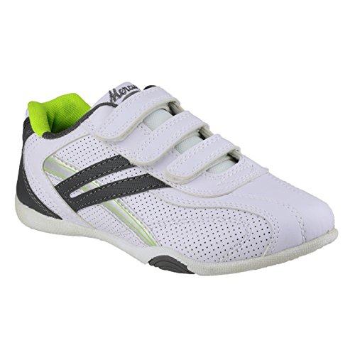 Mercury Oscar Kinder Unisex Turnschuhe / Sneakers Weiß/Limette