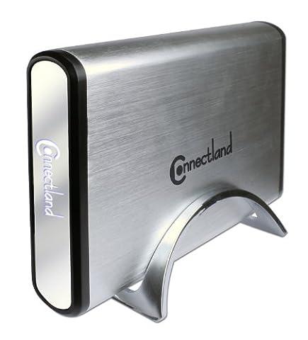 Connectland BE-USB3-U35SEA Boîtier externe USB 3.0 en aluminium pour Disque dur SATA HD 3,5