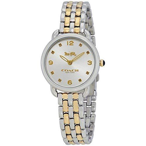 Coach Womens Delancey Slim Two Tone Bracelet Silver Dial 14502784