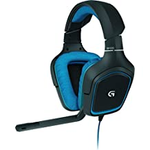 Logitech G430 Gaming Headset for PC Gaming with 7.1 Dolby Surround, Black/Blue