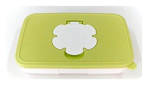 TUPPERWARE Baby Kinder Feuchttücherbox Feuchttücher Box klein flach Windeln Pampers (grün)