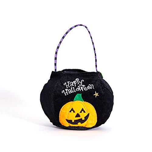 Newin Star Halloween-Vlies-Taschen Süßes sonst Gibt's Saures Geschenk-Taschen Party-Goodie-Taschen-Taschen Leckerei-Tasche mit Handgriffen Gastgeschenke, Kürbis