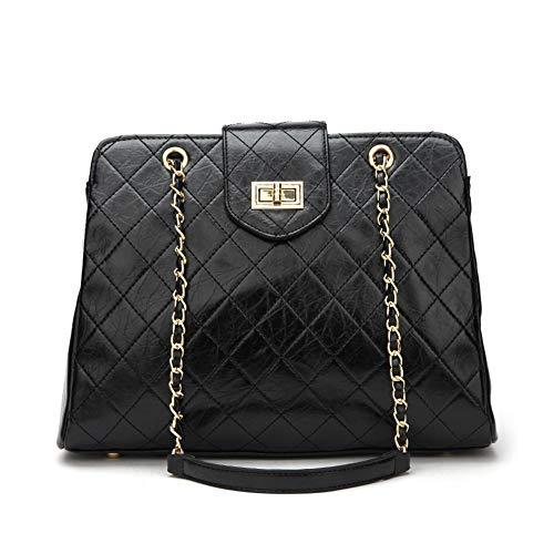 Tuladuo frauen - soft - kette handtaschen freizeit rhombic handtaschen klassische pu - single schulter schräg handtaschen,schwarz