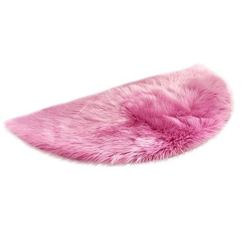 Selou Wollimitation Schaffell Teppich Kunstpelz nicht schiebende Schlafzimmer Pelzmatte Liebe einfarbig Kinderkissen Warm gepolstertes Kissen teppichboden teppich kaufen günstig günstige wohnzimmer