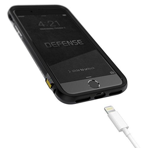 iPhone 7 Hülle, X-Doria (Defense Lux) Hülle für das iPhone 7, Dual Protection, stoßabsorbierende, Premium-Schutz iPhone 7 Fall(Schwarz) Schwarz
