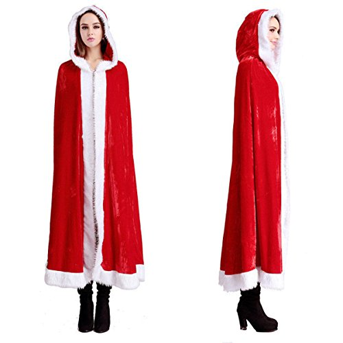 Weihnachten Umhang mit Kapuze Kostüm Kapuzenumhänge Sexy Christmas Party Cosplay Winter - Kreuzworträtsel Halloween-rätsel