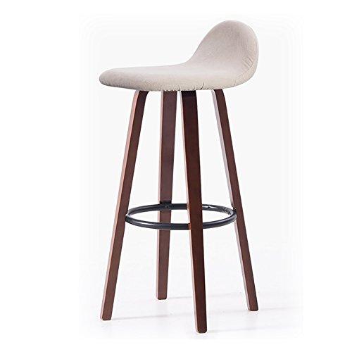 MENA Uk Nordic Massivholz Esszimmerstühle mit Eisen Pedal Wohnzimmer Büro Espresso 33X33X69.5cm (Farbe : 4, größe : 33cmX33cmX69.5cm) - Espresso-esszimmer