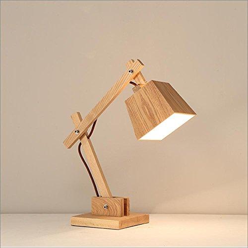 GBT Moderne Schreibtischlampe Einfache Hölzerne Schlafzimmer Nachttischlampe Kreative Kinder Leselampe (Led-Leuchten, Warmes Licht, Weißes Licht, Kronleuchter, Innenbeleuchtung, Außenleuchten, Wandleuchten)
