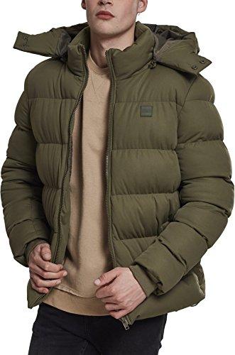 Urban Classics Herren Jacke Hooded Boxy Puffer Jacket, Grün (Olive 00176), Large