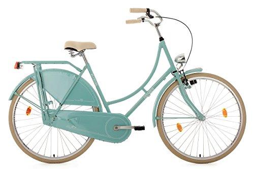 KS Cycling Damen Fahrrad Hollandrad Tussaud singlespeed RH 54 cm, mint, 28 Zoll, 333H