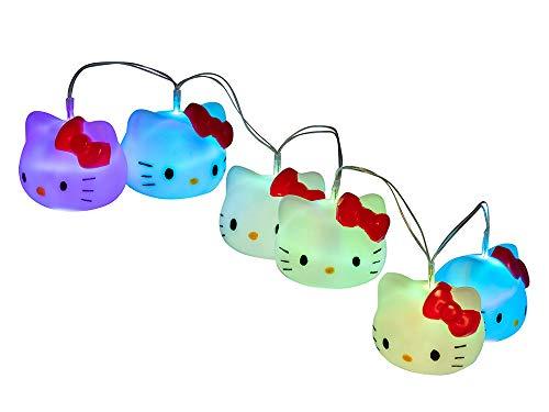Teknofun 811316 7 Farben Hello Kitty LED Girlande, Weiß (Kitty Hello Licht)