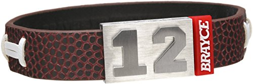 BRAYCE Unisex Armband im American Football-Stil (American Football, 22 cm / 8,7