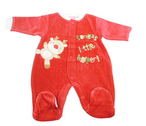 y Mädchen Weihnachten rot Strampler All in One Santa 's Little Helper (Santa ' S Helper Outfit)
